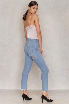 NA-KD Back Ripped Highwaist Jeans