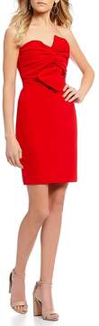 B. Darlin Strapless Bow Front Sheath Dress