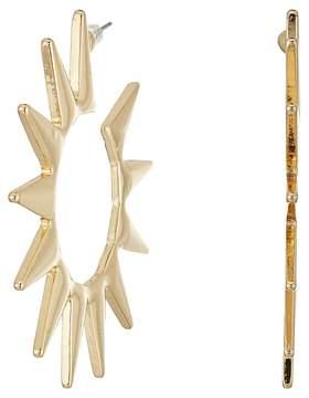 Kenneth Jay Lane Polished Gold Spike Hoop Pierced Earrings Earring