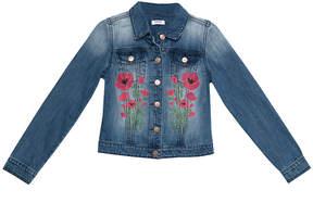 Bebe Embroidered Denim Jacket