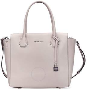 Michael Kors Large Mercer Pebbled Satchel - Cement - ONE COLOR - STYLE