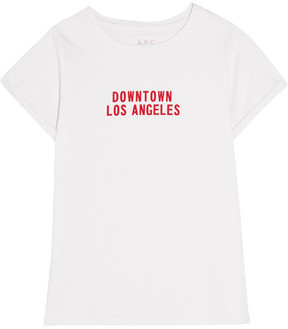 A.P.C. Downtown Los Angeles Printed Cotton-jersey T-shirt - White