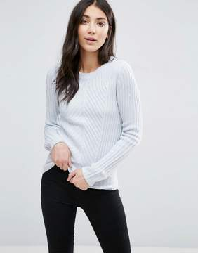 Brave Soul Crew Neck Rib Sweater