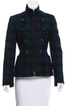 Akris Plaid Zip-Up Jacket