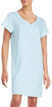Karen Neuburger Printed Cotton-Blend Sleepshirt