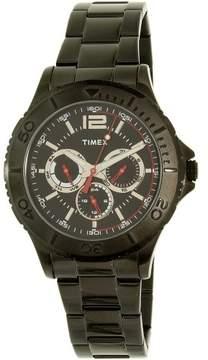 Timex Men's TW2P87700 Black Stainless-Steel Plated Japanese Quartz Dress Watch