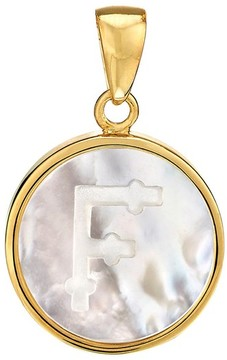 Asha Women's Mother-Of-Pearl Initial Charm