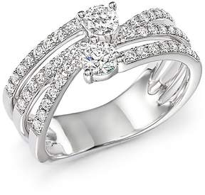 Bloomingdale's Diamond Two Stone Multi Ring in 14K White Gold, .79 ct. t.w. - 100% Exclusive