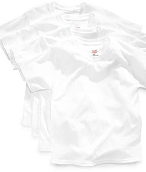Hanes Platinum 4-Pack White Cotton Undershirts, Big Boys (8-20) & Little Boys (4-7)