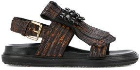 Marni embellished fringe sandals
