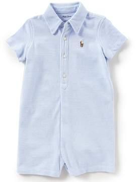 Ralph Lauren Baby Boys 3-12 Months Short-Sleeve Oxford-Knit Shortall