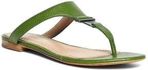 Brooks Brothers Tumbled Calfskin Thong Sandals