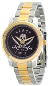 Disney Pirates of the Caribbean Ready for Battle 2-tone Bracelet Watch