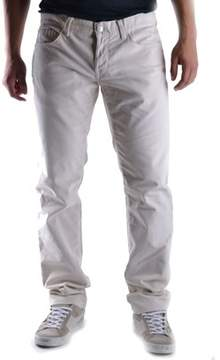 Richmond Men's Beige Cotton Pants.