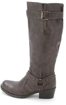 b.ø.c. Womens Mahers Round Toe Mid-calf Riding Boots.