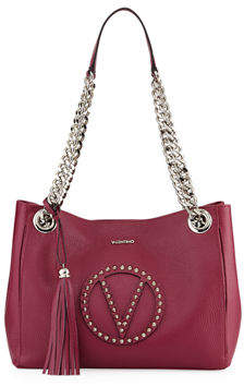 Mario Valentino Valentino By Luisa Dollaro Leather Shoulder Tote Bag