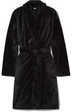 Calvin Klein Underwear Chevron Terry Robe - Black