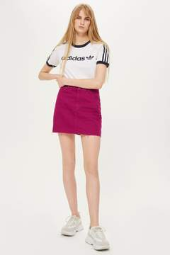 Topshop Raspberry Denim Skirt
