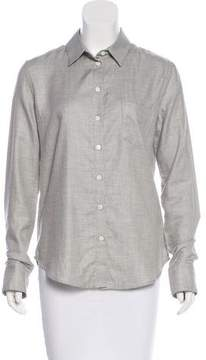 Band Of Outsiders Long-Sleeve Button-Up Top