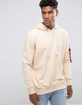 Alpha Industries X-Fit Hoodie Sweatshirt in Caramel