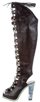 Rodarte Embossed Over-The-Knee Boots w/ Tags