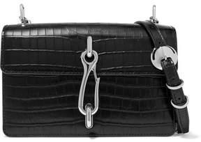 Alexander Wang Hook Croc-effect Leather Shoulder Bag - Black