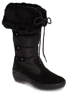 Pajar Women's Mia Waterproof Boot With Faux Fur Trim