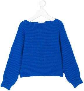 Simonetta fisherman knit boat neck sweater