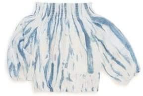 Joe's Jeans Little Girl's Tie Dye Woven Linen Blouse