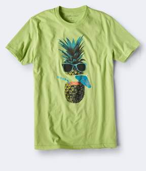 Aeropostale Pineapple Drink Graphic Tee