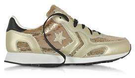 Converse Gold Sequins Sneakers.