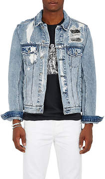 Ksubi Men's Classic Distressed Cotton Denim Jacket