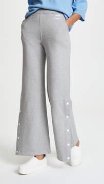 Courreges Side Snap Fleece Trousers