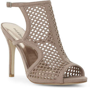 Madden-Girl Taupe Regalll Laser-Cut High Heel Sandals