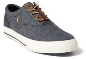 Ralph Lauren Vaughn Canvas Sneaker Black/Carbon Grey 12