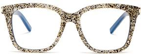 Saint Laurent D-frame glitter-acetate glasses
