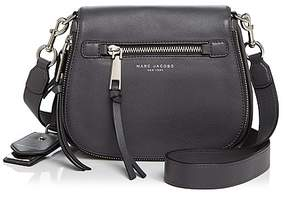 Marc Jacobs Recruit Nomad Small Leather Saddle Bag - BLACK/GOLD - STYLE