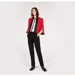 Amanda Wakeley | Red Cloque Jacket | Xl | Red