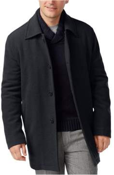 Cole Haan Mens Wool-Blend Pea Coat Grey M