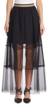 Brunello Cucinelli Long Tulle Skirt
