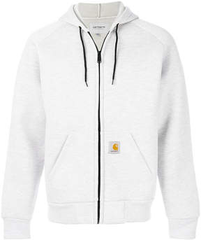 Carhartt logo patch zip hoodie
