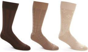 Roundtree & Yorke Gold Label Big & Tall Crew Socks 3-Pack