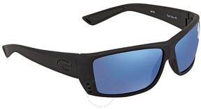Costa del Mar Blue Mirror 580P Rectangular Sunglasses AT 01 OBMP