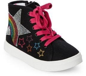 Steve Madden Kids Girls) Rainbow High Top Sneaker