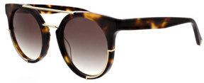 KENDALL + KYLIE Adrianna Round Sunglasses w/ Metal Trim