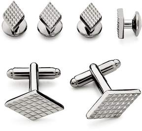 Bloomingdale's The Men's Store at Textured Diamond Stud and Cufflink Set - 100% Exclusive