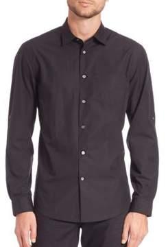 John Varvatos Solid Adjustable Sleeve Shirt