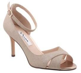 Nina Flo Semi D'Orsay Ankle Strap Sandals