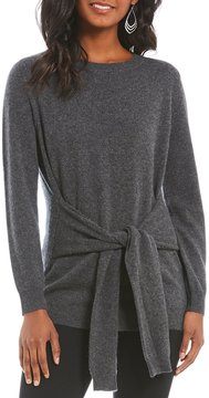 Antonio Melani Luxury Collection Lesley Tie Front Cashmere Sweater