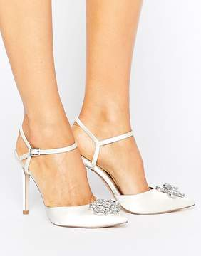 Asos PEPPERMINT Bridal Embellished Pointed High Heels